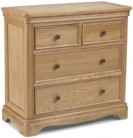 Georgina Natural Oak 2+2 Drawer Chest