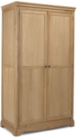 Georgina Natural Oak 2 Door Double Wardrobe