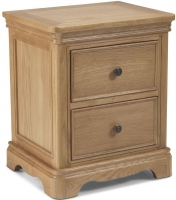 Georgina Natural Oak 2 Drawer Bedside Cabinet