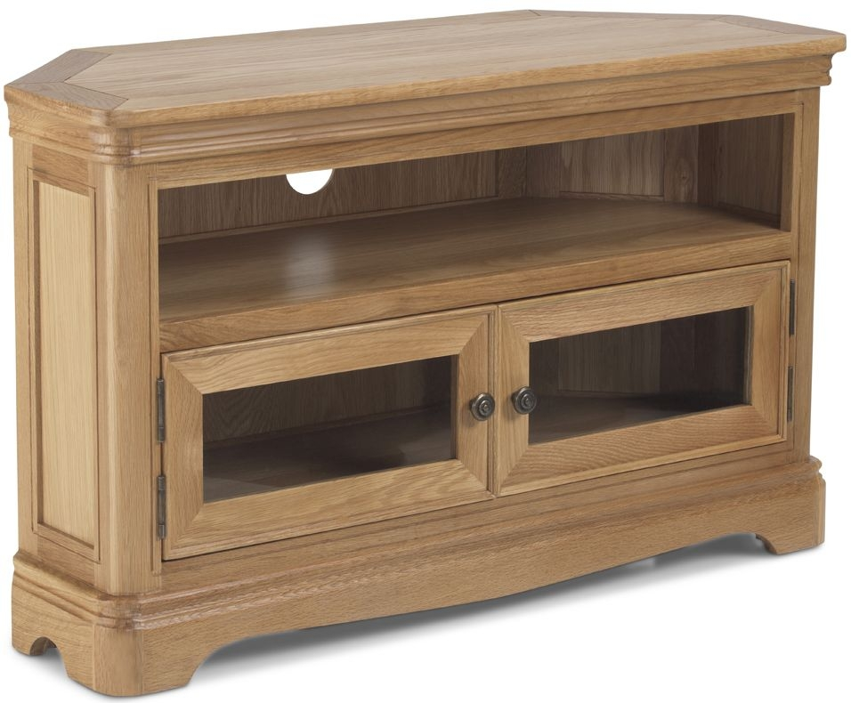 Georgina Natural Oak Corner TV Unit