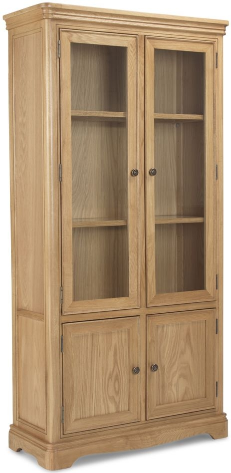 Georgina Natural Oak Glass Display Cabinet
