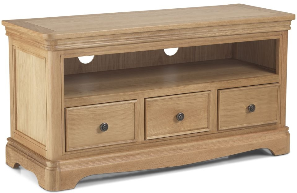Georgina Natural Oak 3 Drawer TV Cabinet