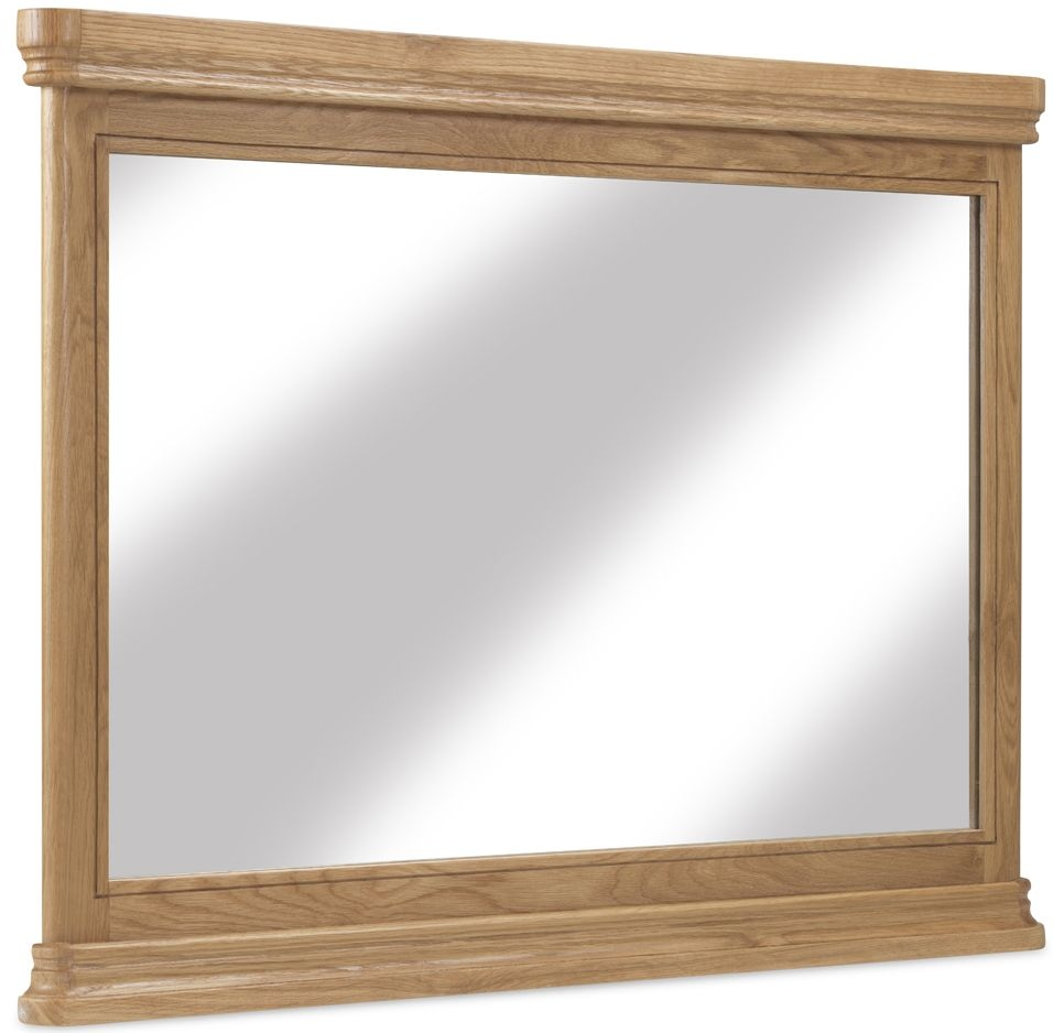 Georgina Natural Oak Rectangular Wall Mirror - 100cm x 80cm