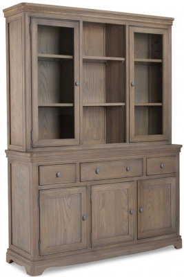 Georgina Grey Washed Oak Large Dresser