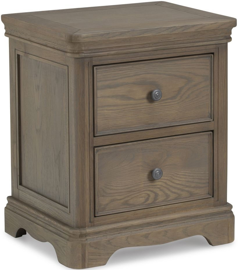 Georgina Grey Washed Oak Bedside Cabinet