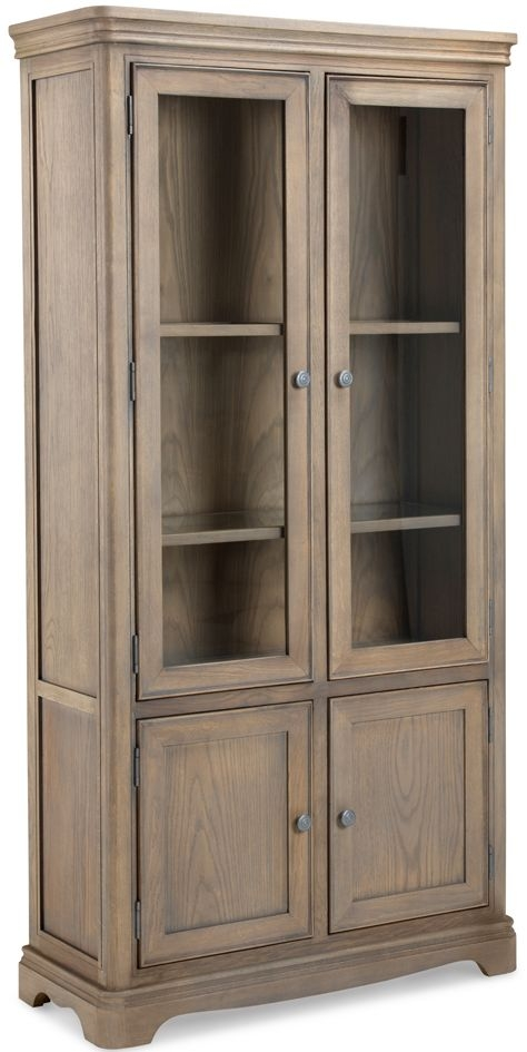 Georgina Grey Washed Oak Glass Display Cabinet