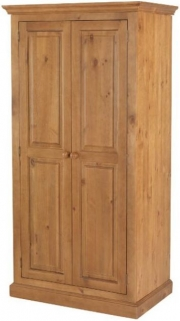 Henbury Pine 2 Door Ladies Wardrobe
