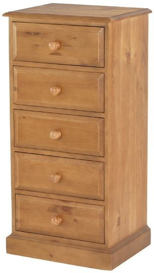 Henbury Pine 5 Drawer Tall Chest