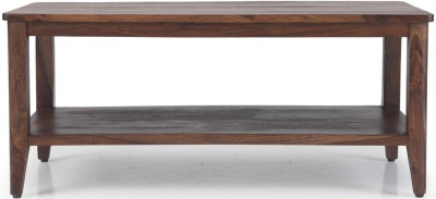 Marvin Sheesham Coffee Table with Shelf