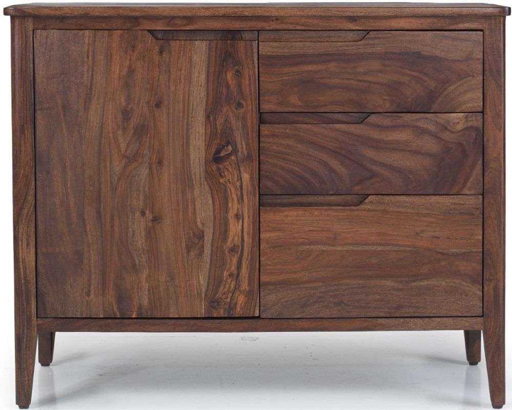 Marvin Sheesham Small 3 Drawer Sideboard