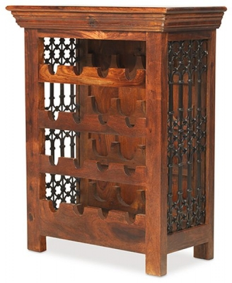 Mica Sheesham Bottle Wine Rack
