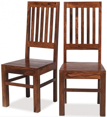 Mica Sheesham Dining Chair (Pair)