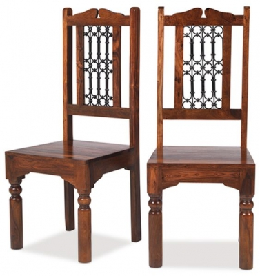 Mica Sheesham High Back Chair (Pair)