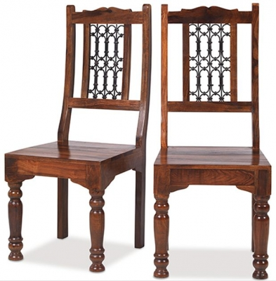 Mica Sheesham Low Back Chair (Pair)