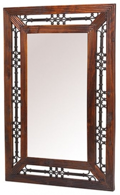 Mica Sheesham Rectangular Mirror - 106cm x 72cm