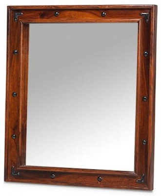 Mica Sheesham Thakat Rectangular Mirror - 72cm x 62cm