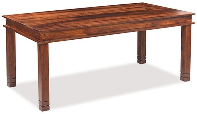 Mica Sheesham Chunky Large Dining Table