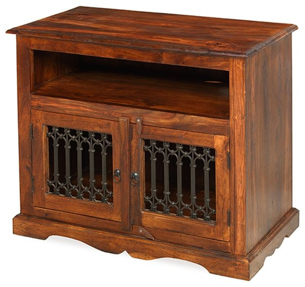 Mica Sheesham Square TV Cabinet