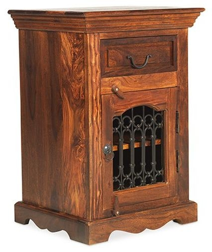 Mica Sheesham Right Hand Facing Bedside Cabinet