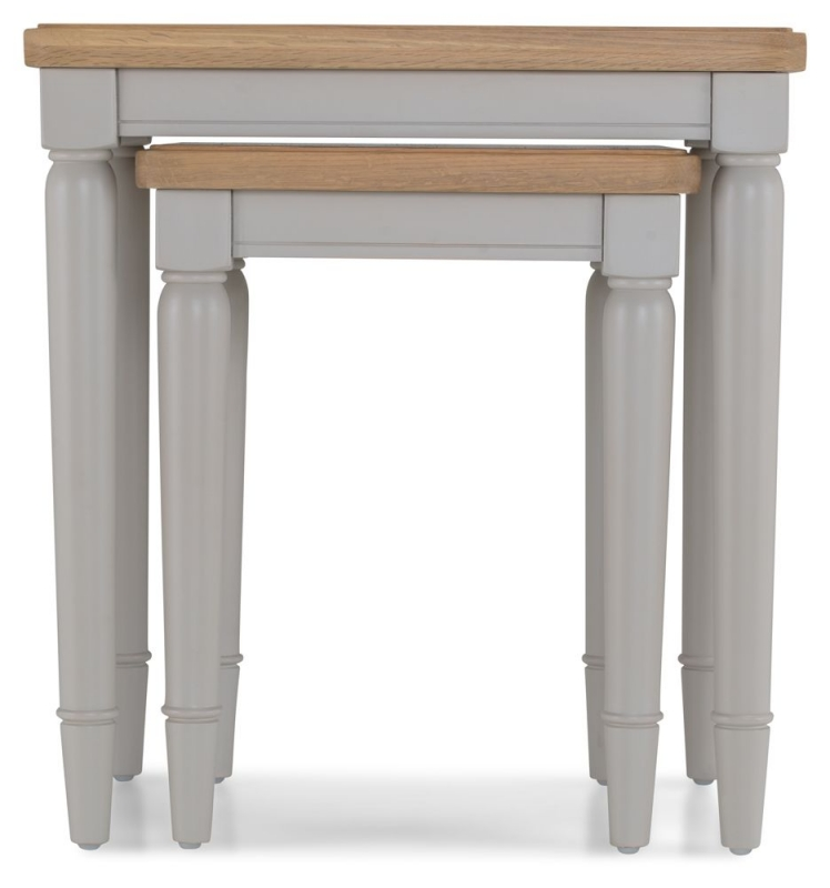 Shallotte Grey Painted Nest of 2 Tables