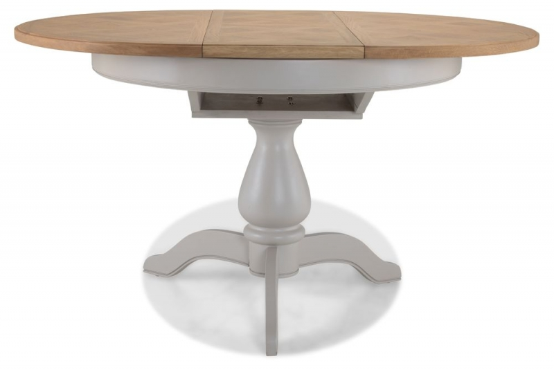 Shallotte Grey Painted Oval Extending Dining Table