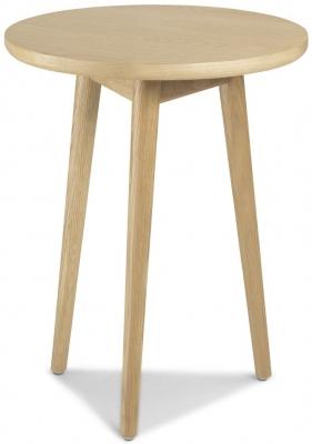 Skean Oak Circular Lamp Table