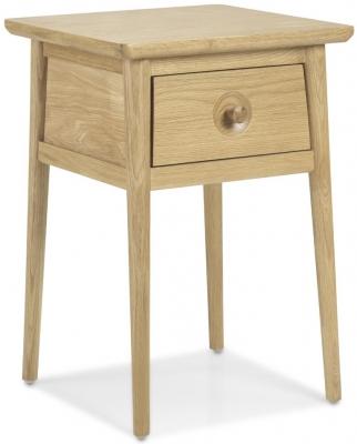 Skean Oak 1 Drawer Lamp Table