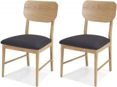 Skean Oak Dining Chair (Pair)