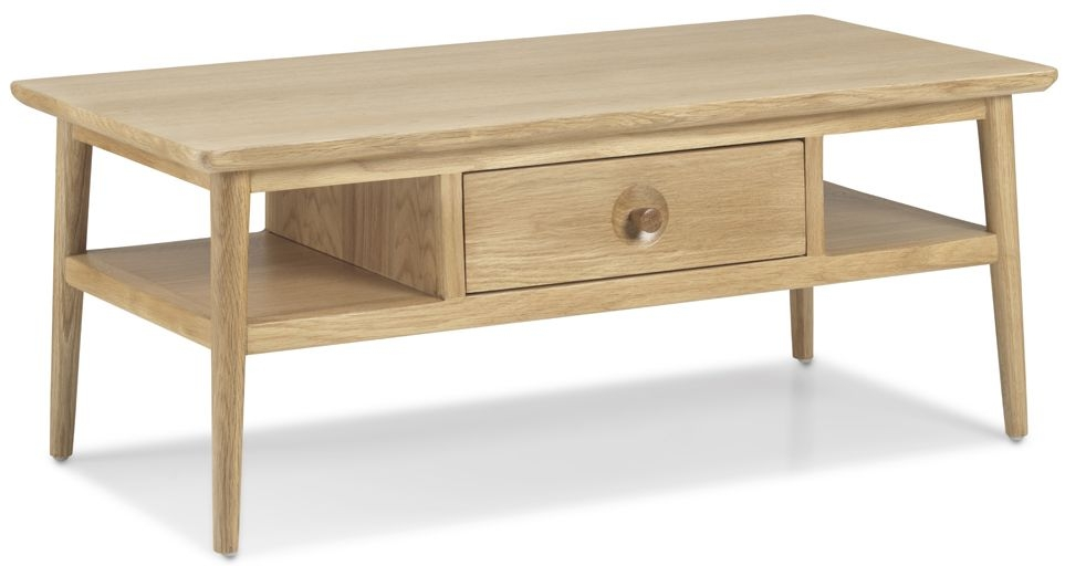 Skean Oak Coffee Table with Drawer