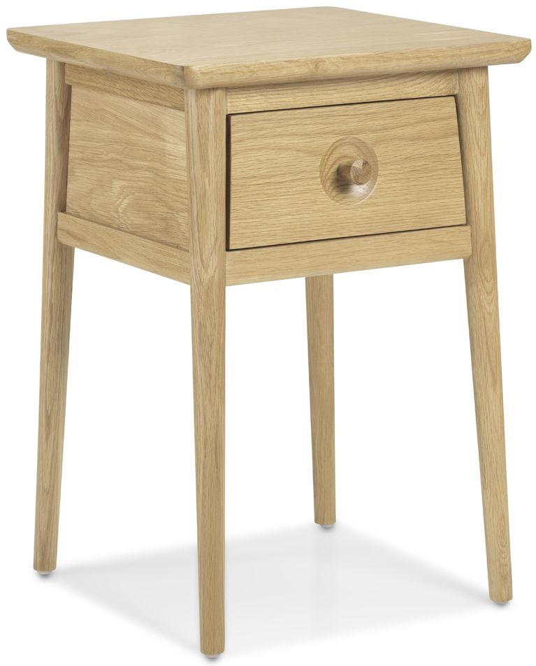 Skean Oak 1 Drawer Lamp Table
