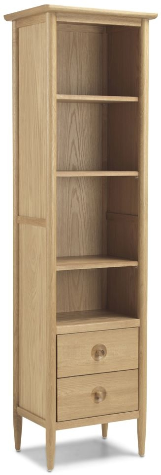Skean Oak Slim Bookcase