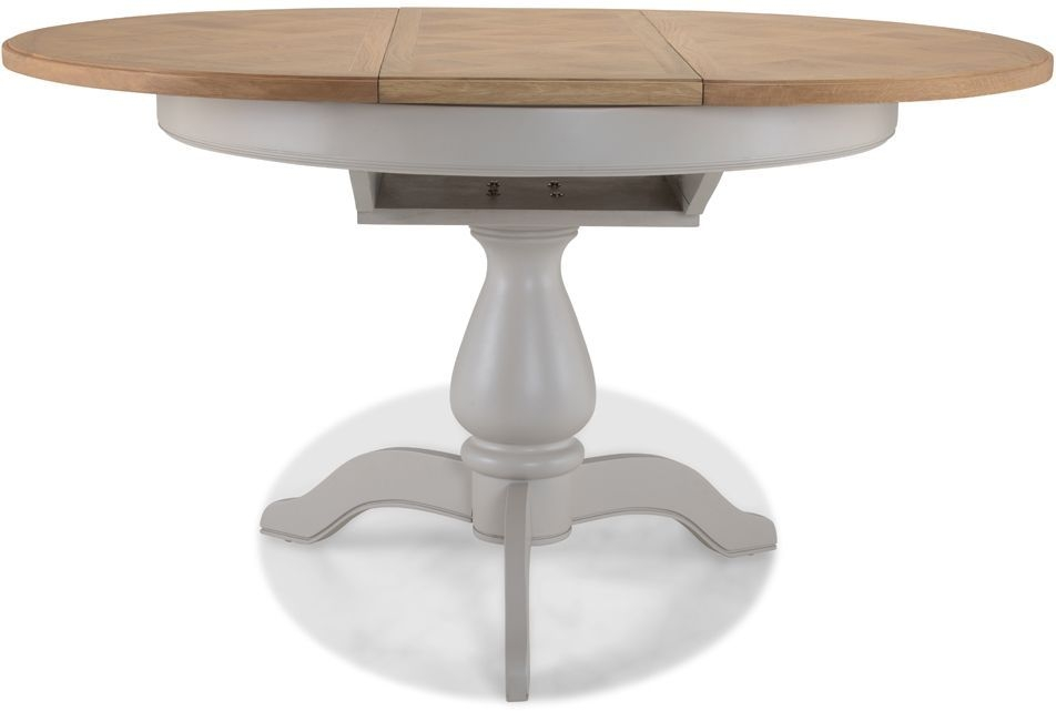 Sorrento Grey Painted Round Extending Dining Table