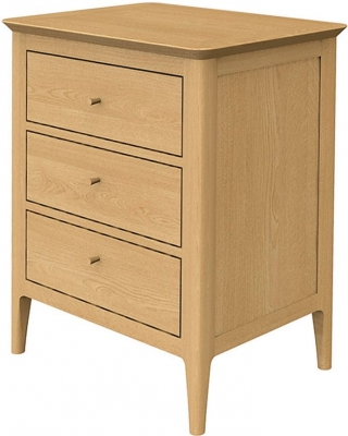 Wadsworth Oak 3 Drawer Bedside Cabinet