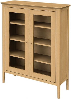 Wadsworth Oak Glazed Cabinet