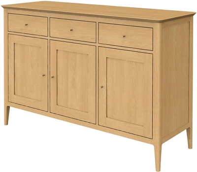 Wadsworth Oak Large 3 Doors 3 Drawer Sideboard