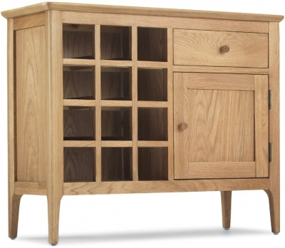 Wadsworth Oak Petite Wine Rack Sideboard