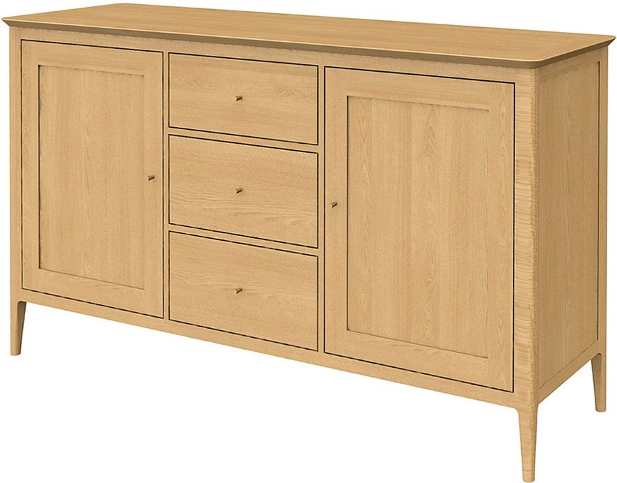 Wadsworth Oak Large 2 Door 3 Drawer Sideboard
