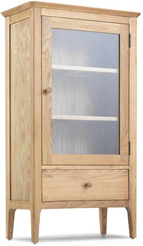 Wadsworth Oak Petite Glazed Bookcase