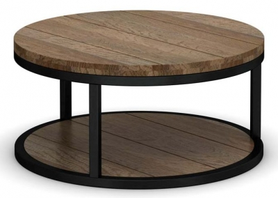 Wilber Oak Industrial Coffee Table