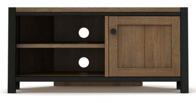 Wilber Oak Industrial Corner TV Unit
