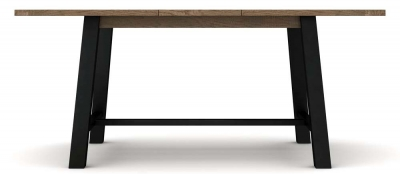 Wilber Oak Industrial Extending Dining Table