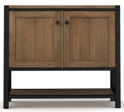 Wilber Oak Industrial Hall Cabinet