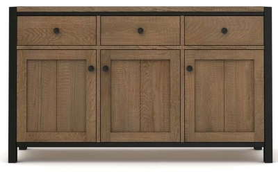 Wilber Oak Industrial Large Sideboard