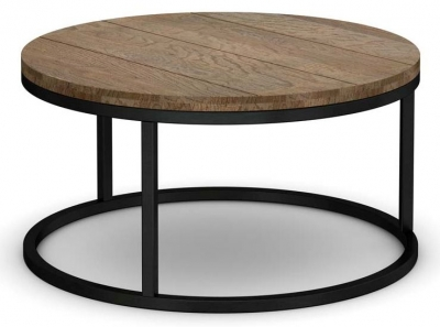 Wilber Oak Industrial Large Coffee Table