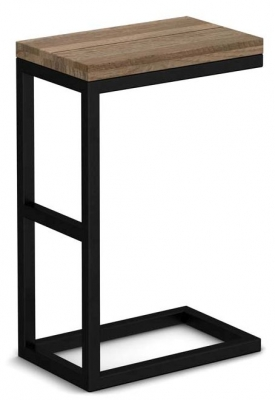 Wilber Oak Industrial Side Table