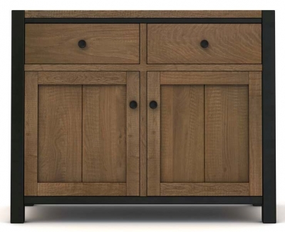 Wilber Oak Industrial Sideboard