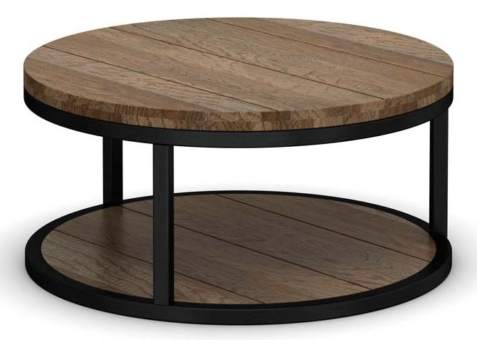 Wilber Oak Industrial Coffee Table