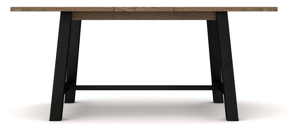 Wilber Oak Industrial Extending Dining Table