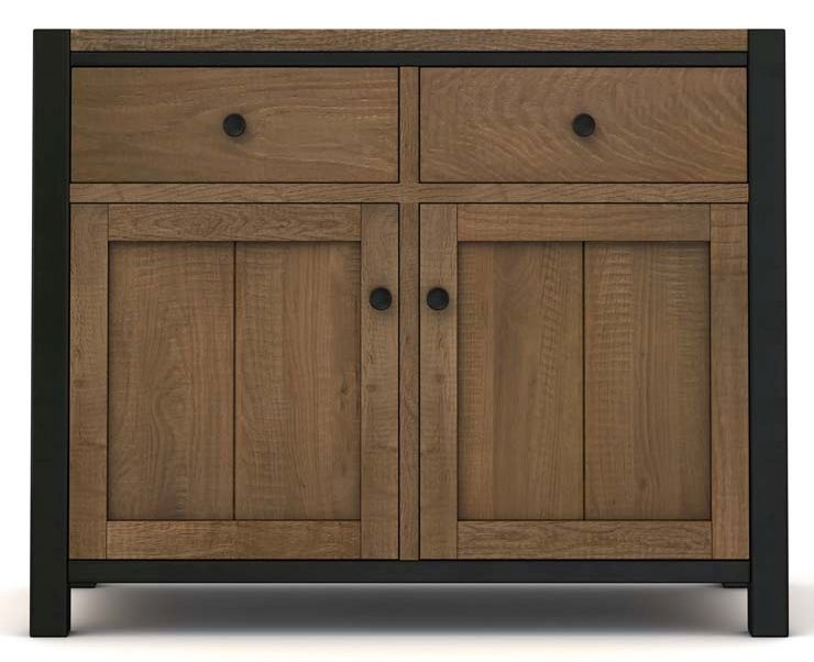 Wilber Oak Industrial Sideboard