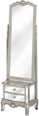 Hill Interiors Argente Dressing Mirror - 1 Drawer